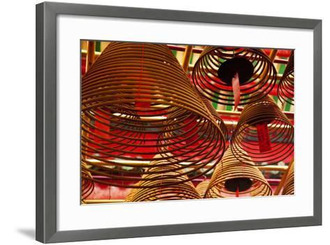 China, Hong Kong, Spiral Incense Sticks at Man Mo Temple-Terry Eggers-Framed Art Print