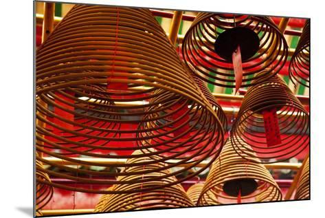 China, Hong Kong, Spiral Incense Sticks at Man Mo Temple-Terry Eggers-Mounted Photographic Print