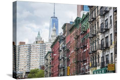 Chinatown of New York City, Ny, USA-Julien McRoberts-Stretched Canvas Print