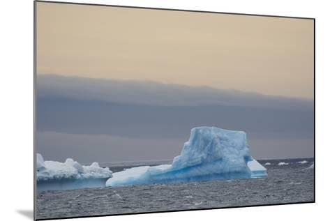 Antarctica. Brown Bluff. Bright Blue Iceberg-Inger Hogstrom-Mounted Photographic Print