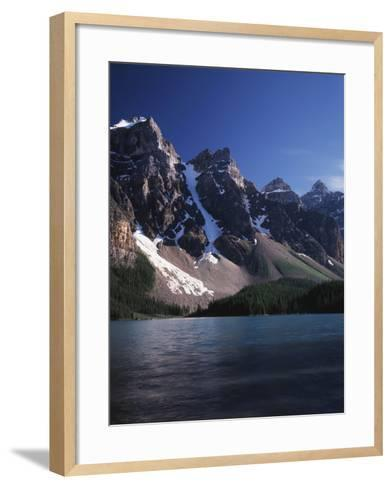 Banff National Park, Mountain Peaks and the Glacial Water of Moraine Lake-Christopher Talbot Frank-Framed Art Print