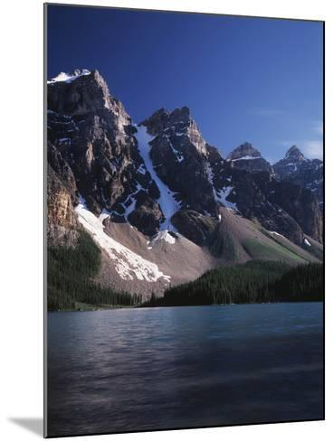 Banff National Park, Mountain Peaks and the Glacial Water of Moraine Lake-Christopher Talbot Frank-Mounted Photographic Print