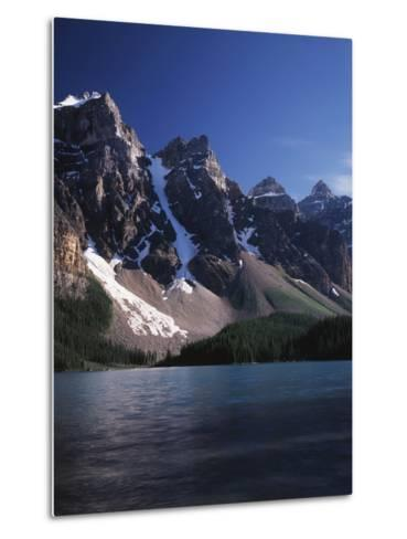 Banff National Park, Mountain Peaks and the Glacial Water of Moraine Lake-Christopher Talbot Frank-Metal Print