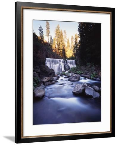 California, Shasta Trinity Nf, Middle Fall on the Mccloud River-Christopher Talbot Frank-Framed Art Print