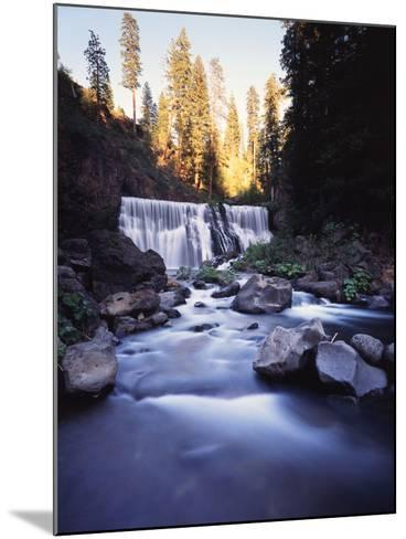 California, Shasta Trinity Nf, Middle Fall on the Mccloud River-Christopher Talbot Frank-Mounted Photographic Print