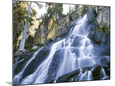 California, Sierra Nevada Mountains. a Waterfall and Rocks-Christopher Talbot Frank-Mounted Photographic Print
