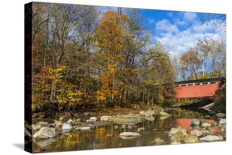 Everett Road Covered Bridge on Furnace Run Cree, Cuyahoga National Park, Ohio-Chuck Haney-Stretched Canvas Print