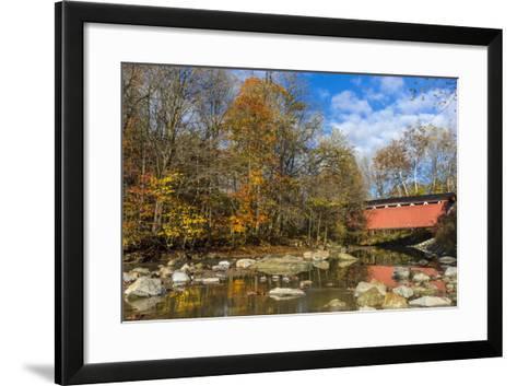 Everett Road Covered Bridge on Furnace Run Cree, Cuyahoga National Park, Ohio-Chuck Haney-Framed Art Print