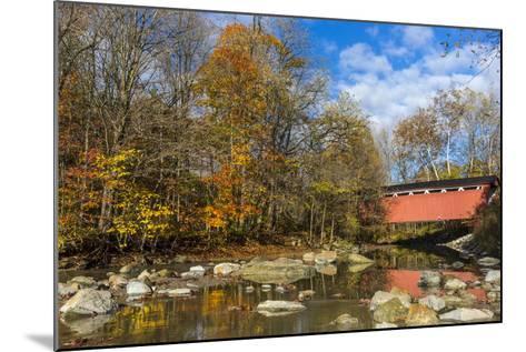 Everett Road Covered Bridge on Furnace Run Cree, Cuyahoga National Park, Ohio-Chuck Haney-Mounted Photographic Print