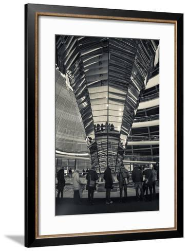Germany, Berlin, Reichstag, Dome Interior, Evening-Walter Bibikow-Framed Art Print