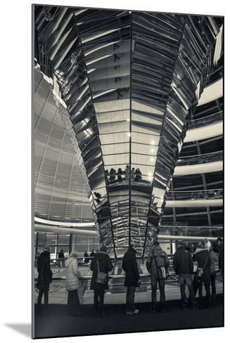 Germany, Berlin, Reichstag, Dome Interior, Evening-Walter Bibikow-Mounted Photographic Print