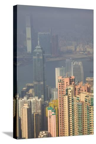 China, Hong Kong, View of Downtown Area from the Peak Viewing Area-Terry Eggers-Stretched Canvas Print