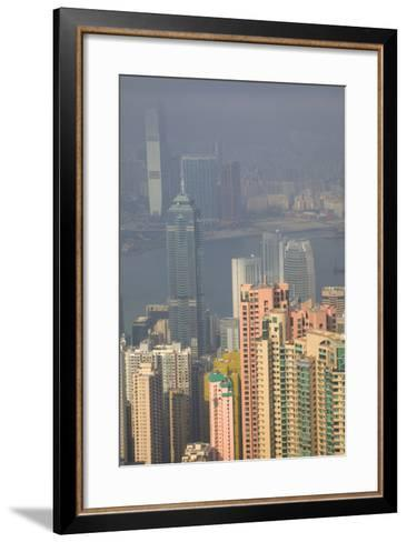 China, Hong Kong, View of Downtown Area from the Peak Viewing Area-Terry Eggers-Framed Art Print