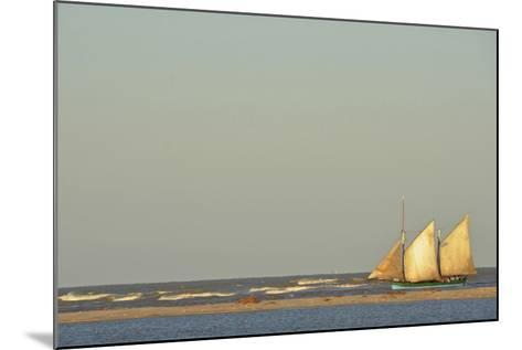 Madagascar, Morondava, Fisherman Boat with Large White Sails at Sea-Anthony Asael-Mounted Photographic Print