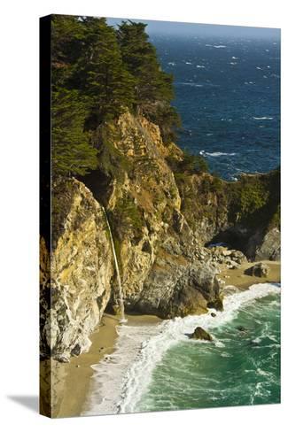 Mcway Falls, Julia Pfeiffer Burns State Park, Big Sur, California, USA-Michel Hersen-Stretched Canvas Print