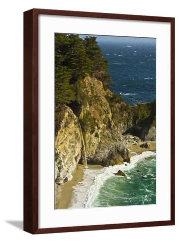 Mcway Falls, Julia Pfeiffer Burns State Park, Big Sur, California, USA-Michel Hersen-Framed Art Print