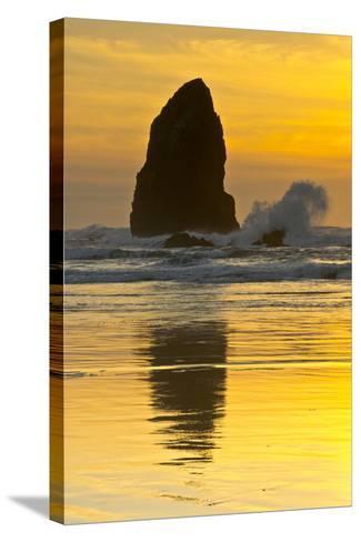 Sunset, Cannon Beach, Oregon, USA-Michel Hersen-Stretched Canvas Print