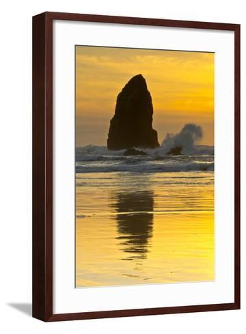 Sunset, Cannon Beach, Oregon, USA-Michel Hersen-Framed Art Print