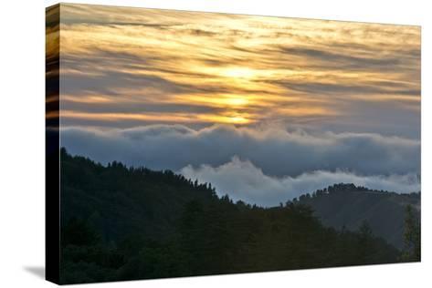 Sunset, Palo Coronado Canyon, California, USA-Michel Hersen-Stretched Canvas Print