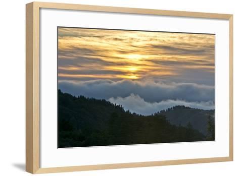 Sunset, Palo Coronado Canyon, California, USA-Michel Hersen-Framed Art Print