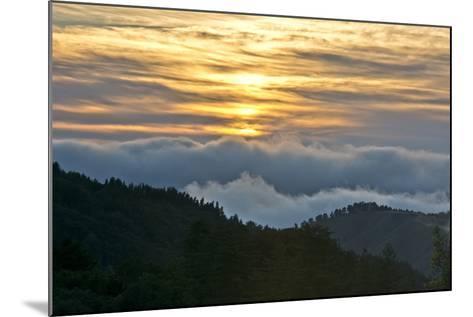 Sunset, Palo Coronado Canyon, California, USA-Michel Hersen-Mounted Photographic Print