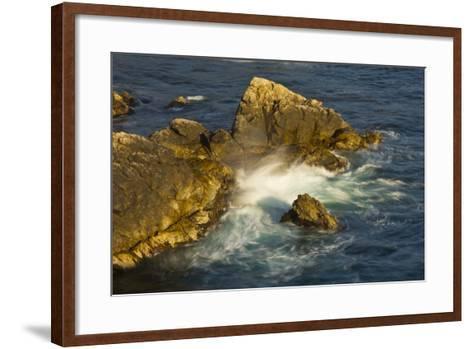 Surf and Rocks, Rocky Creek Area, Big Sur, California, USA-Michel Hersen-Framed Art Print