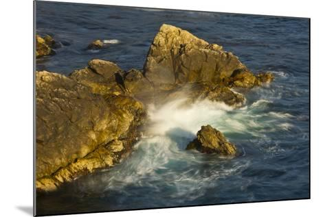 Surf and Rocks, Rocky Creek Area, Big Sur, California, USA-Michel Hersen-Mounted Photographic Print