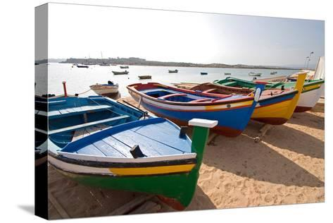 Colorful Fishing Boats of Alvor, Portugal, Europe-Susan Degginger-Stretched Canvas Print