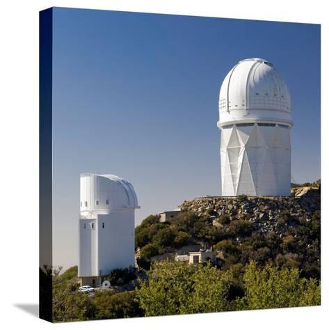 Telescopes on Kitt Peak National Observatory, Arizona-Susan Degginger-Stretched Canvas Print