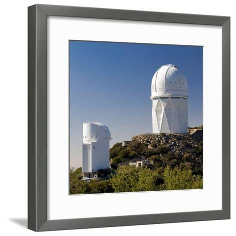 Telescopes on Kitt Peak National Observatory, Arizona-Susan Degginger-Framed Art Print