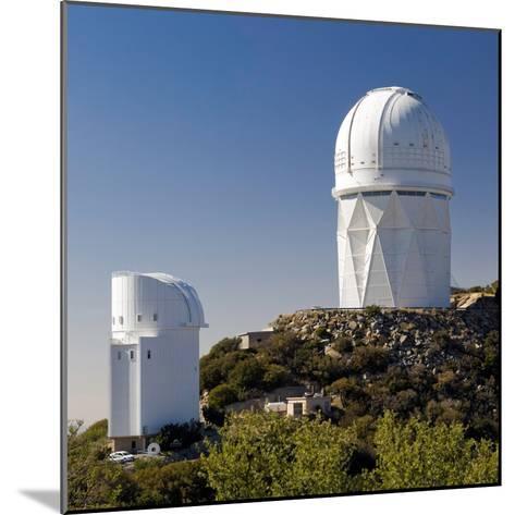 Telescopes on Kitt Peak National Observatory, Arizona-Susan Degginger-Mounted Photographic Print