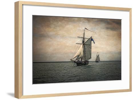 Tall Ships Festival, Digitally Altered-Rona Schwarz-Framed Art Print