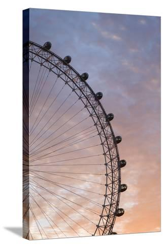 England, London, London Eye, Sunrise-Walter Bibikow-Stretched Canvas Print