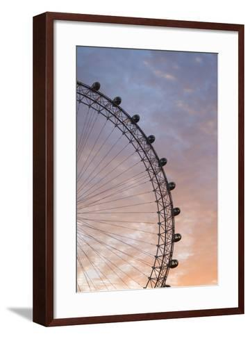 England, London, London Eye, Sunrise-Walter Bibikow-Framed Art Print