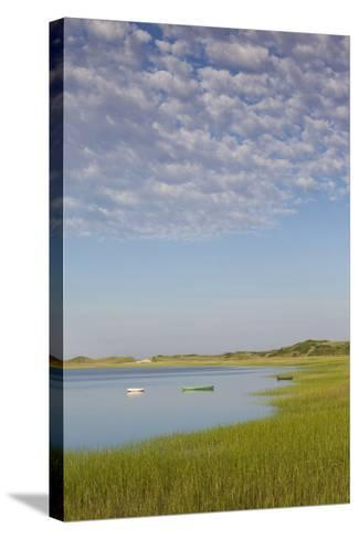 Massachusetts, Cape Cod, Wellfleet, View of the Gut by Great Island-Walter Bibikow-Stretched Canvas Print
