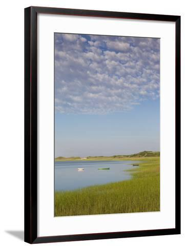 Massachusetts, Cape Cod, Wellfleet, View of the Gut by Great Island-Walter Bibikow-Framed Art Print