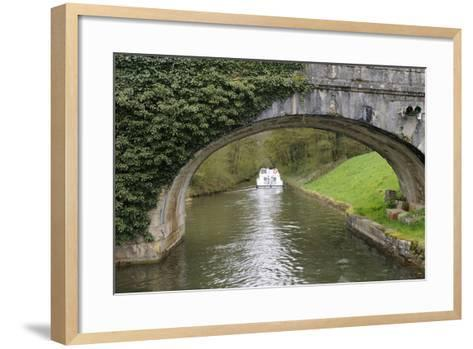 France, Burgundy, Nievre. Approaching Pont Port Brule, La Collancelle-Kevin Oke-Framed Art Print