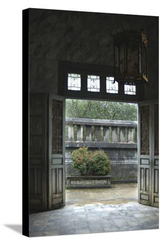 Vietnam. Doors Leading to a Patio, Khai Dinh Tomb, Hue, Thua Thien?Hue-Kevin Oke-Stretched Canvas Print
