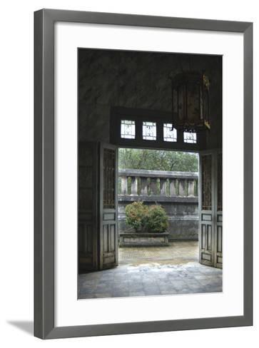 Vietnam. Doors Leading to a Patio, Khai Dinh Tomb, Hue, Thua Thien?Hue-Kevin Oke-Framed Art Print