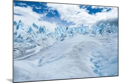 Detail of Perito Moreno Glacier with Clouds, Patagonia, Argentina-James White-Mounted Photographic Print