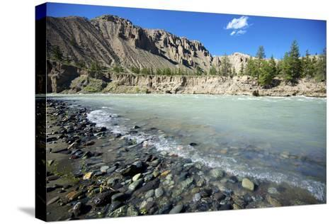 Nature Lanscape with Chilcotin River in Grasslands, Canada-Richard Wright-Stretched Canvas Print
