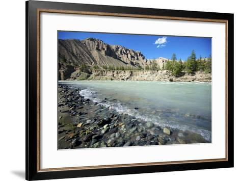 Nature Lanscape with Chilcotin River in Grasslands, Canada-Richard Wright-Framed Art Print