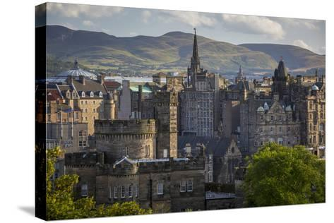 Old St Andrews House and Buildings of Edinburgh, Scotland-Brian Jannsen-Stretched Canvas Print