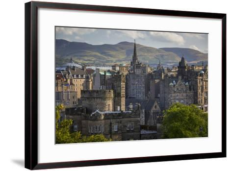 Old St Andrews House and Buildings of Edinburgh, Scotland-Brian Jannsen-Framed Art Print