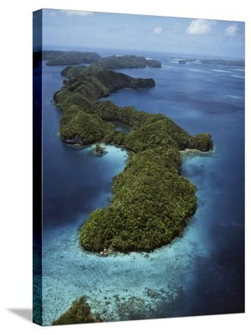 Palau, Micronesia, Aerial View of Rock Island-Stuart Westmorland-Stretched Canvas Print