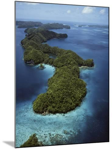 Palau, Micronesia, Aerial View of Rock Island-Stuart Westmorland-Mounted Photographic Print