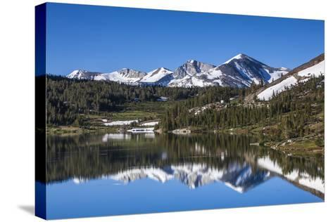 Yosemite National Park. the Kuna Crest and Mammoth Reflections in Tioga Lake-Michael Qualls-Stretched Canvas Print