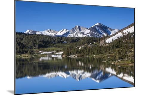 Yosemite National Park. the Kuna Crest and Mammoth Reflections in Tioga Lake-Michael Qualls-Mounted Photographic Print