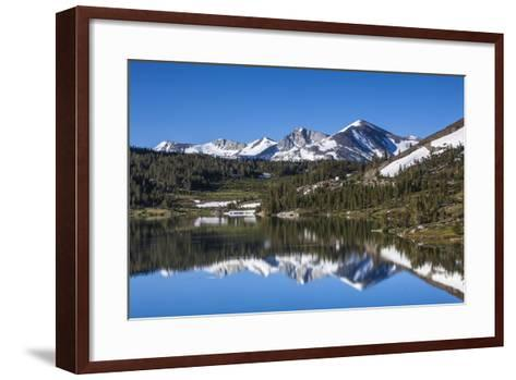 Yosemite National Park. the Kuna Crest and Mammoth Reflections in Tioga Lake-Michael Qualls-Framed Art Print