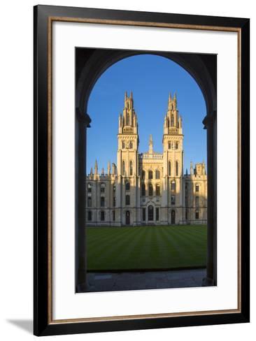 All Souls College, Oxford, Oxfordshire, England-Brian Jannsen-Framed Art Print